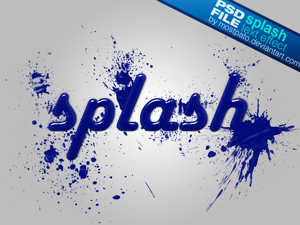 Paint Splash Free Photoshop Text Effect
