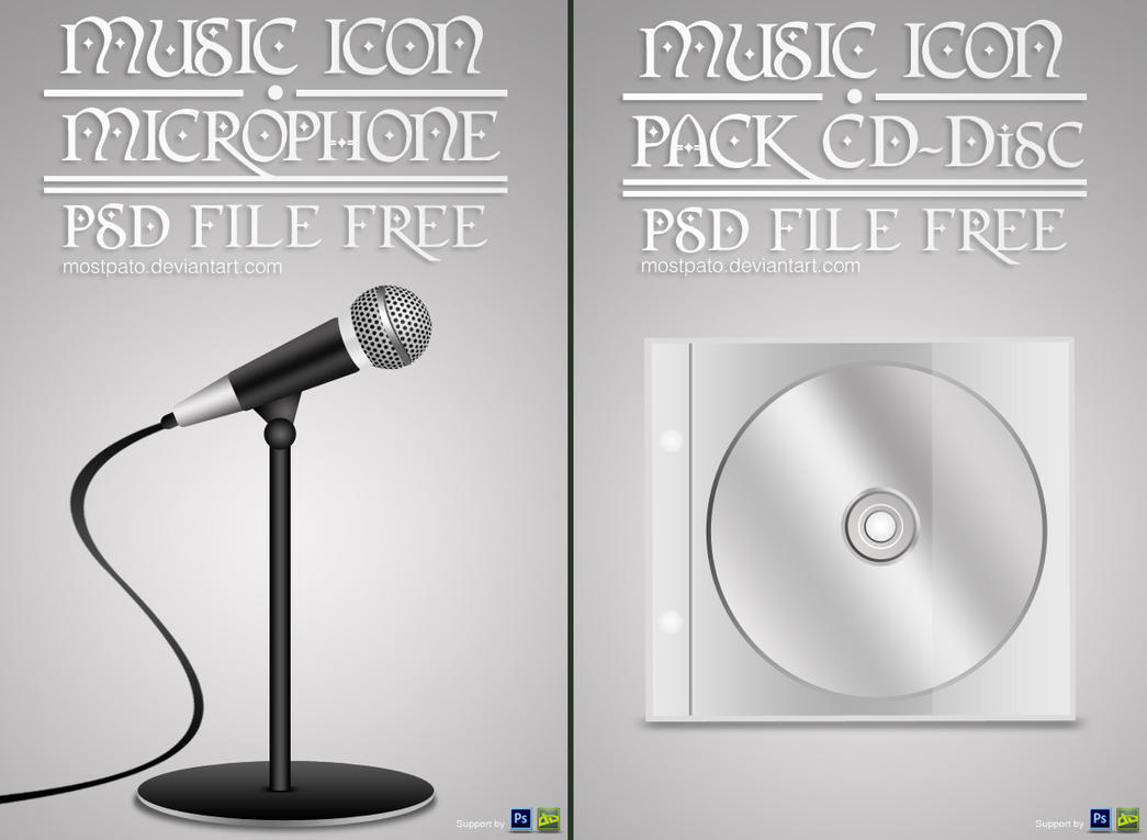 Microphone and CD PSD File by mostpato