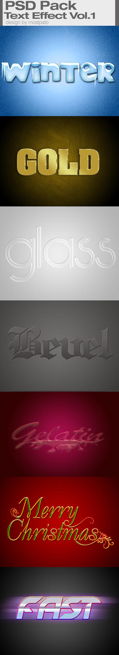 PSD Pack text effect vol1 by mostpato