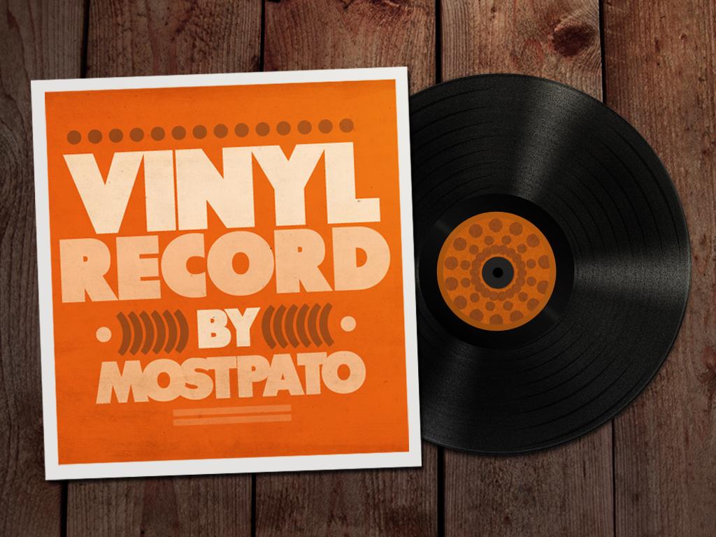 Vinyl Record Psd Free by mostpato
