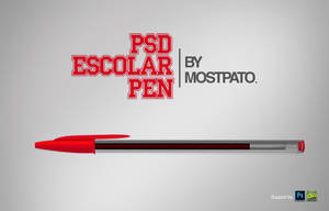 Psd escolar pen by mostpato