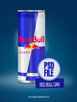 Psd Red Bull Can by mostpato