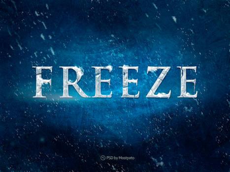 Psd Freeze - Text Effect