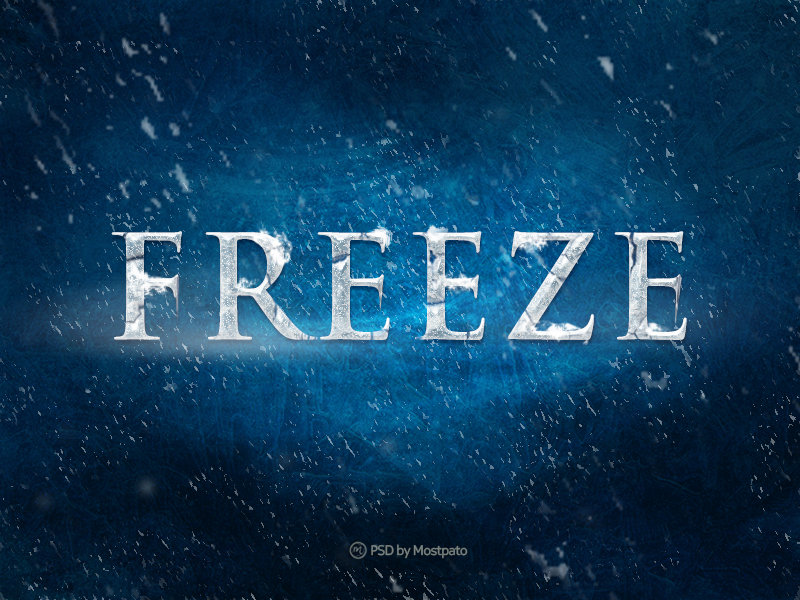 psd freeze   text effect by mostpato on deviantart