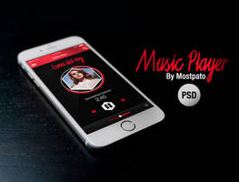 Music Player App PSD - FREE by mostpato