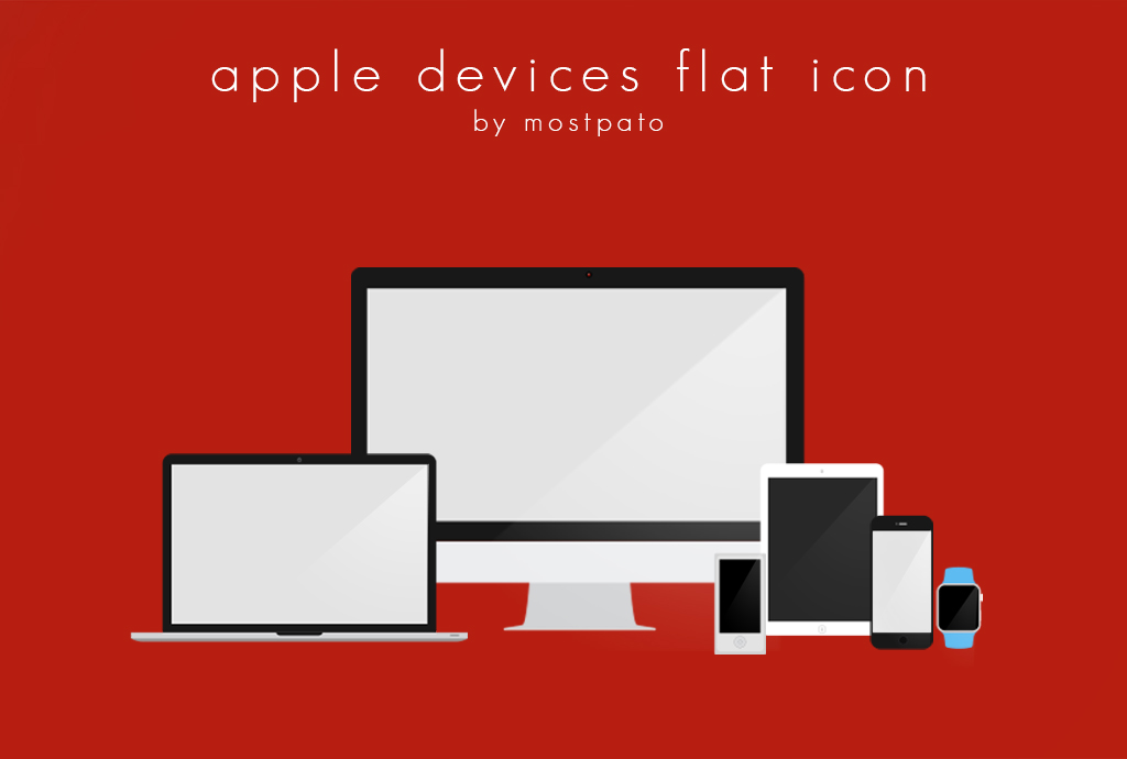 Apple Devices flat Icon - Free