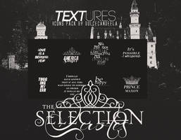 The Selection  - Text Textures by DulceCandeela