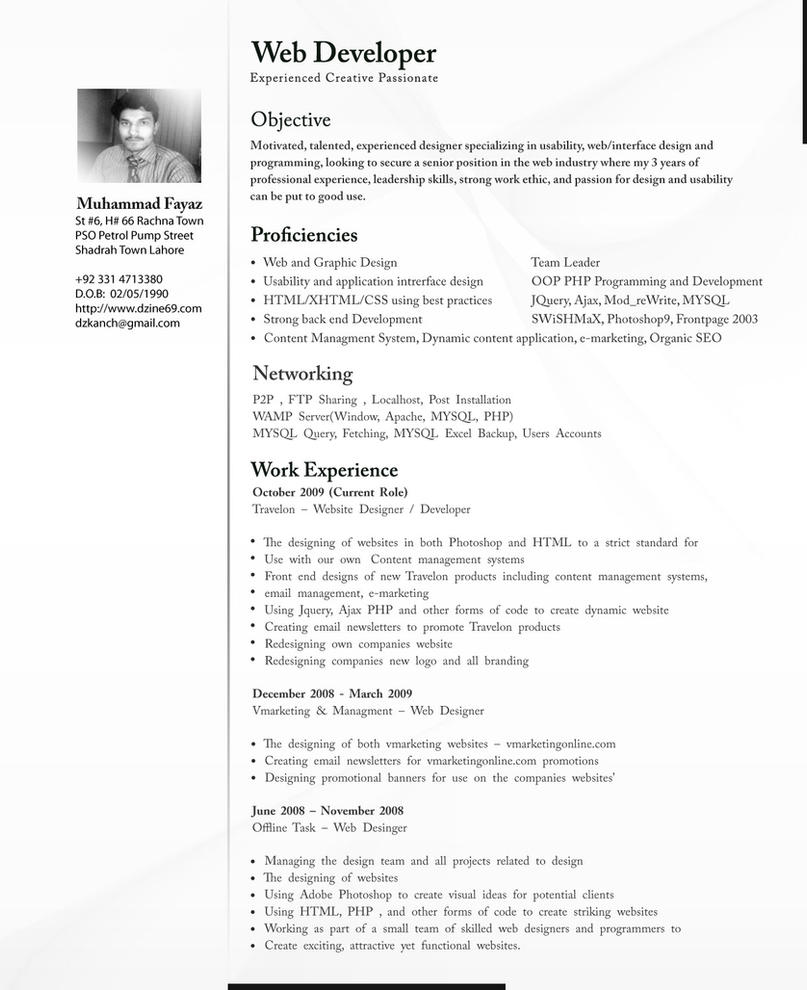 Web Developer Resume Pdf