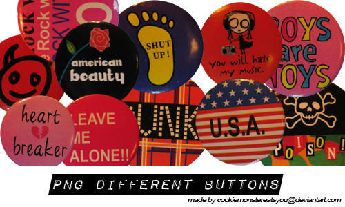 Different Buttons PNG by Cookiemonstereatsyou