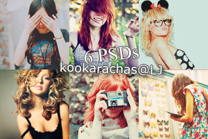 6 PSDs by isabellyy