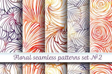Floral patterns set #2