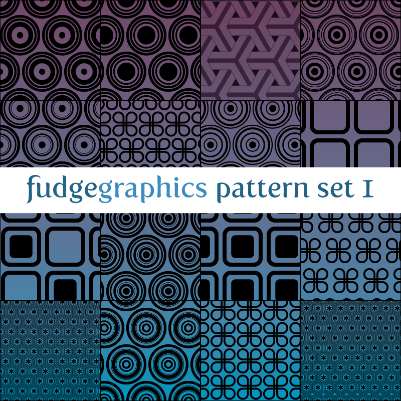 Pattern Set 1 by fudgegraphics
