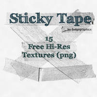 Sticky Tape Textures by fudgegraphics
