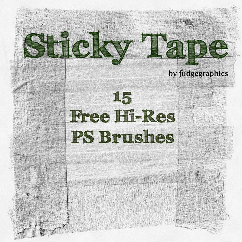 Sticky Tape Hi-Res PS Brushes by fudgegraphics