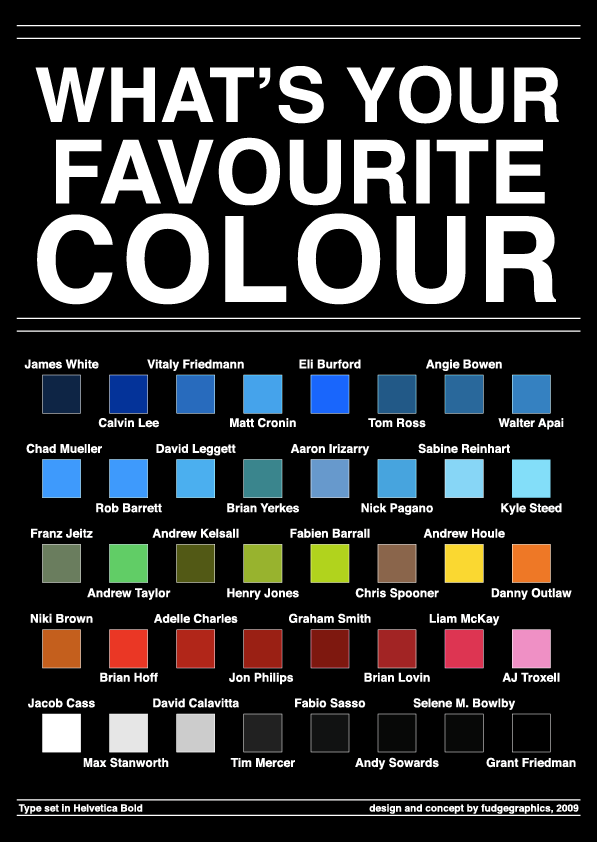 What's Your Favourite Colour by fudgegraphics on DeviantArt