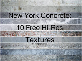 New York Concrete Textures by fudgegraphics