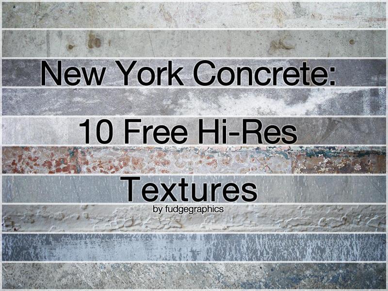 New York Concrete Textures by fudgegraphics