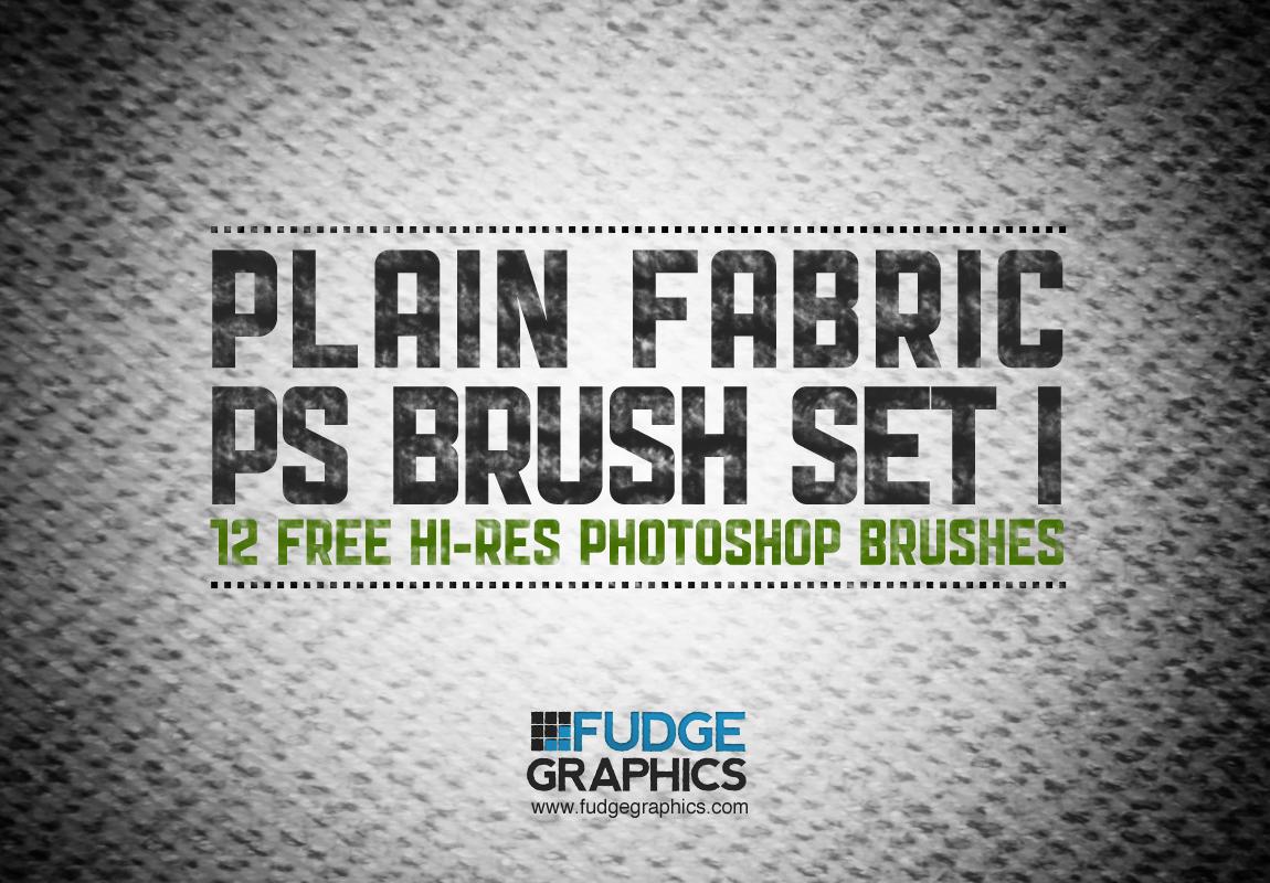 Plain Fabric PS Brush Set 1 by fudgegraphics