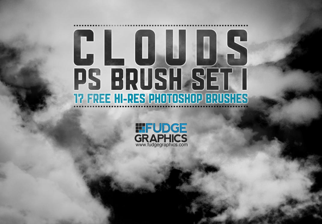 Hi-Res Clouds PS Brush Set 1 by fudgegraphics