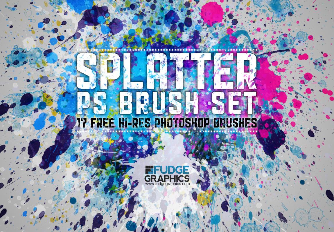 Hi-Res Splatter PS Brush Set