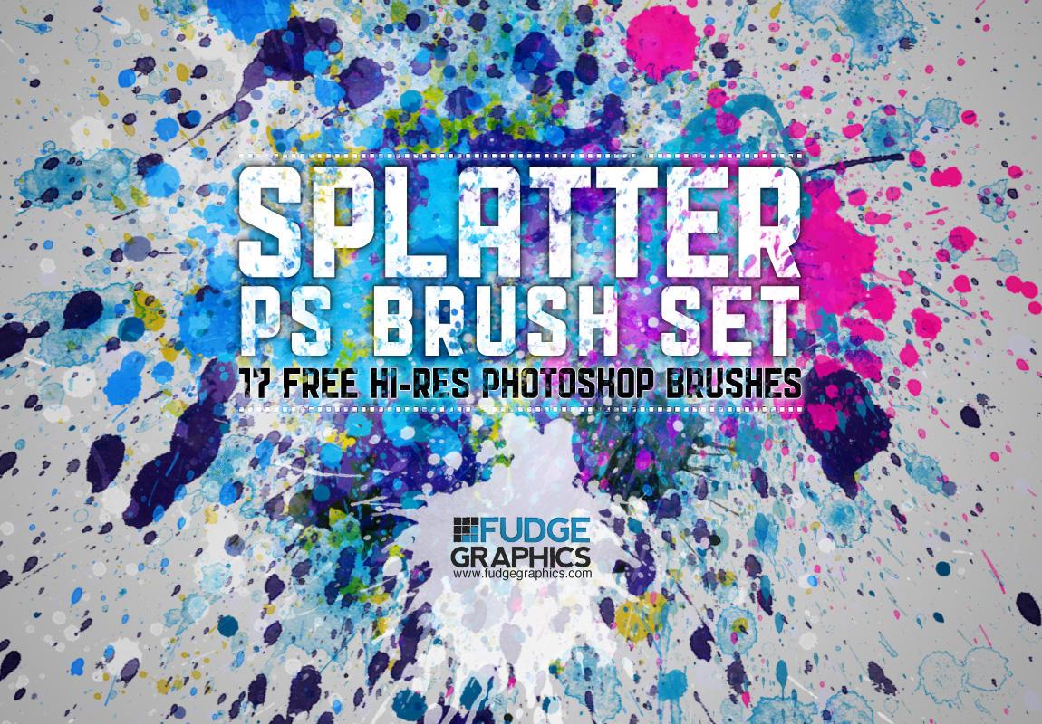 Hi-Res Splatter PS Brush Set by fudgegraphics