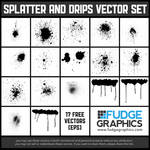 Splatter and Drips Vector Set