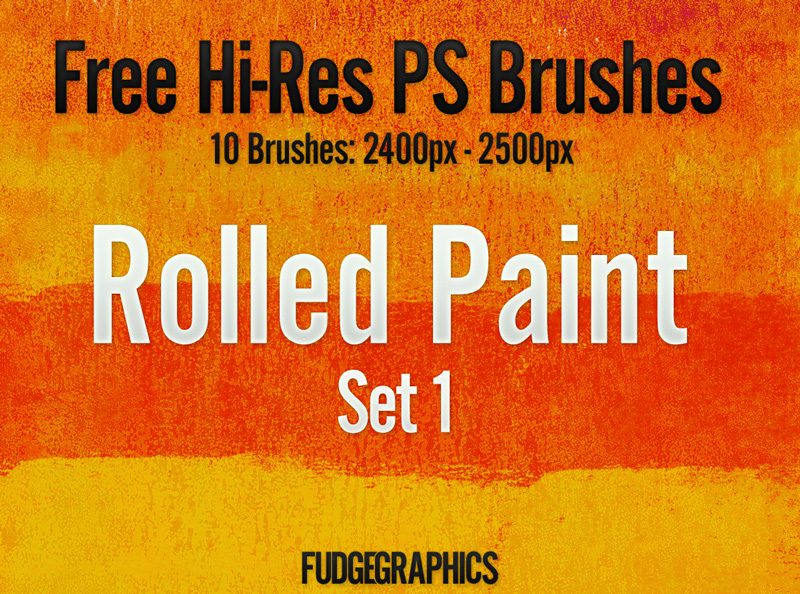 Rolled Paint PS Brush Set 1