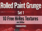 Rolled Paint Textures Set 1