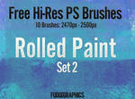 Rolled Paint PS Brush Set 2