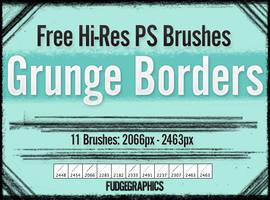 Grunge Borders PS Brush Set by fudgegraphics