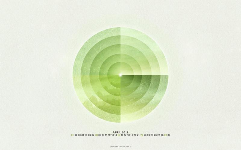 April 2012 Wallpaper Set by fudgegraphics