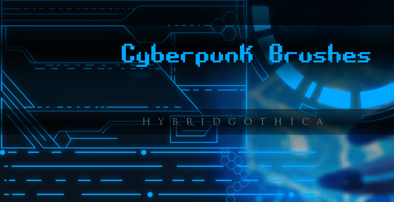 HG Cyberpunk Brushes Vol 1. by hybridgothica