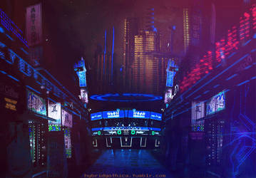 Cyberfunk Synthetic Inn - Animated. by hybridgothica