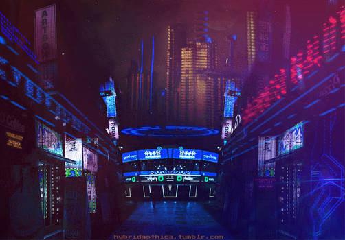 Cyberfunk Synthetic Inn - Animated.