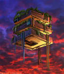 Animated - Hanging Gardens - NeoMiami 2250 by hybridgothica
