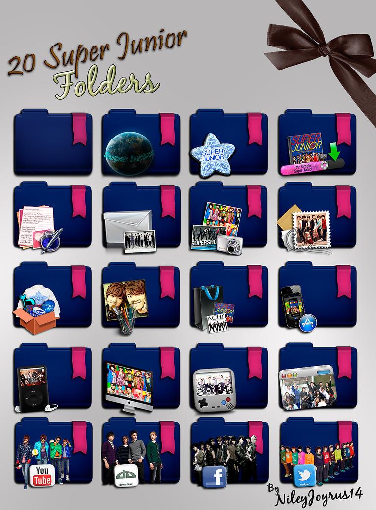 20 Super Junior Icon Folders I by NileyJoyrus14