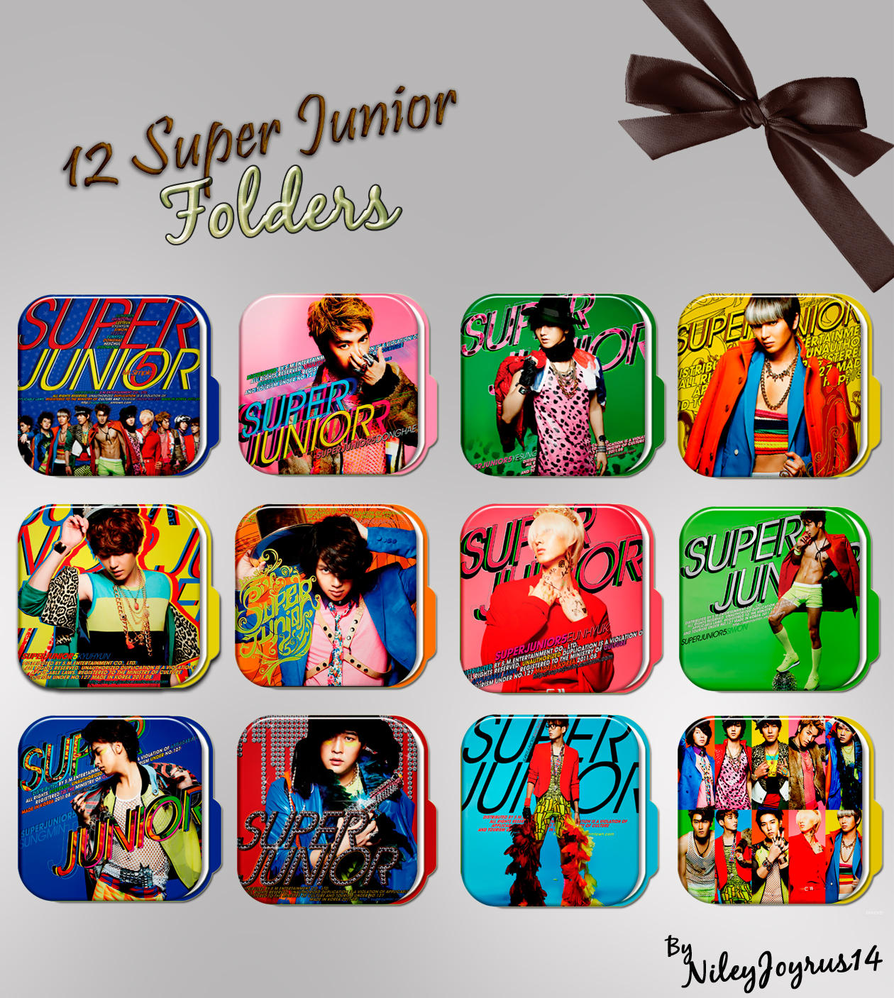 12 Super Junior Mr Simple Folders by NileyJoyrus14