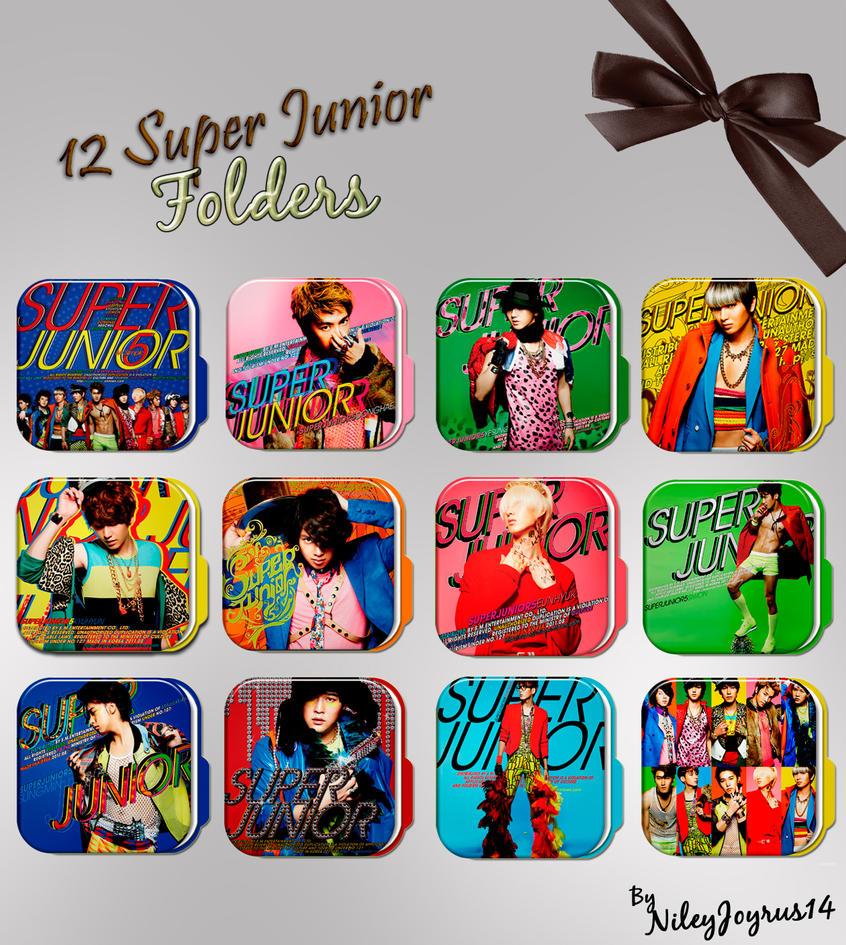 12 Super Junior Mr Simple Folders by NileyJoyrus14