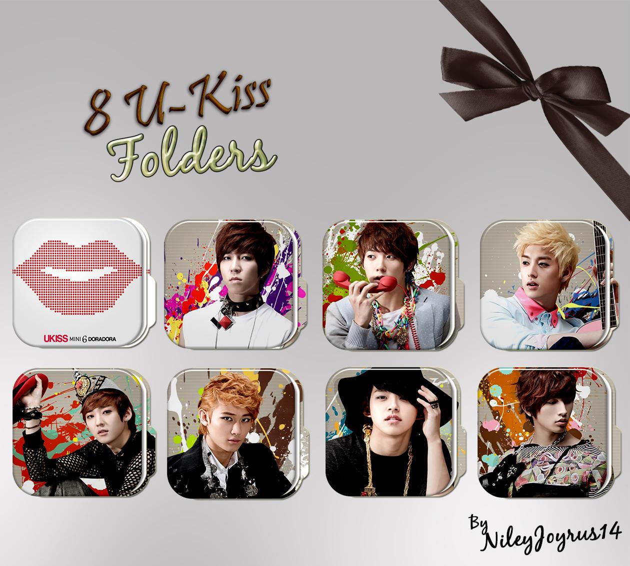8 U-Kiss Folders (Request) by NileyJoyrus14