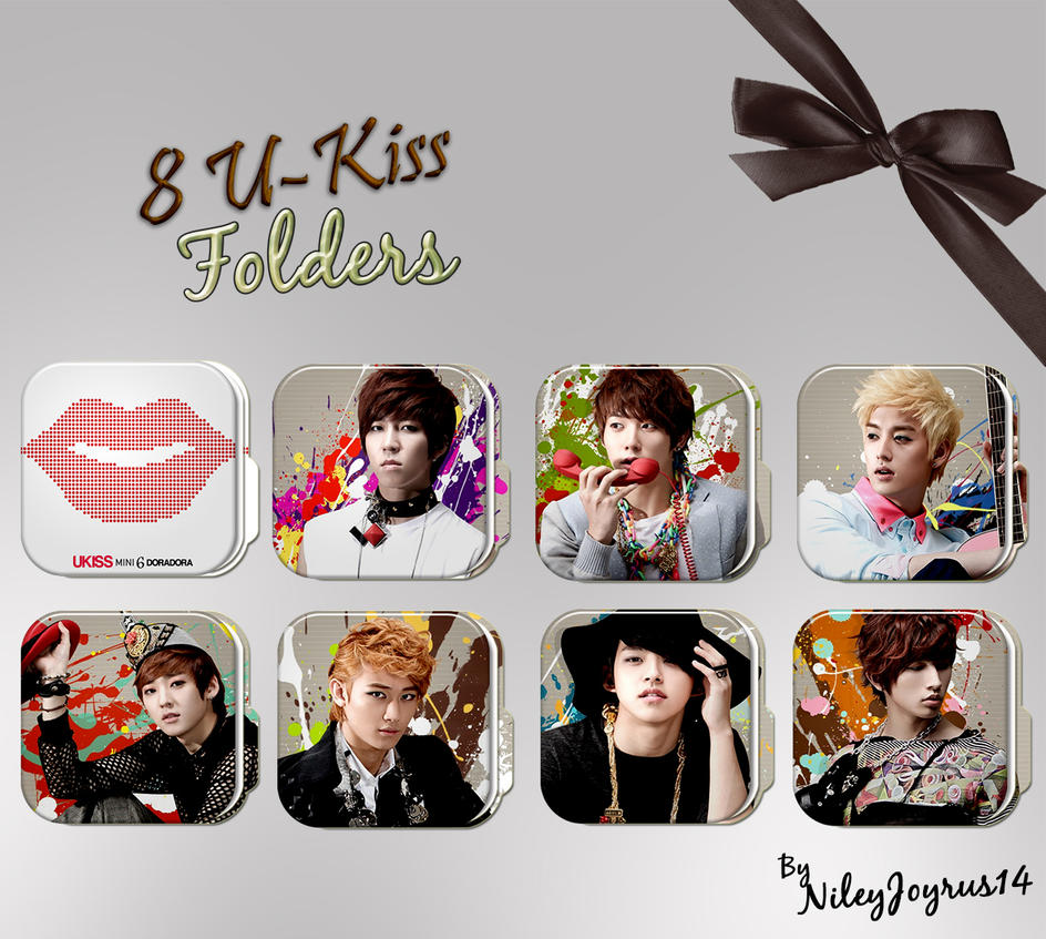 8 U-Kiss Folders (Request) by NileyJoyrus14