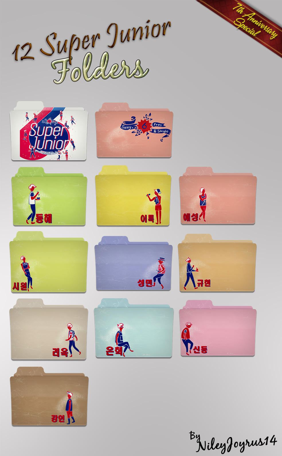 12 SPY Folders by NileyJoyrus14