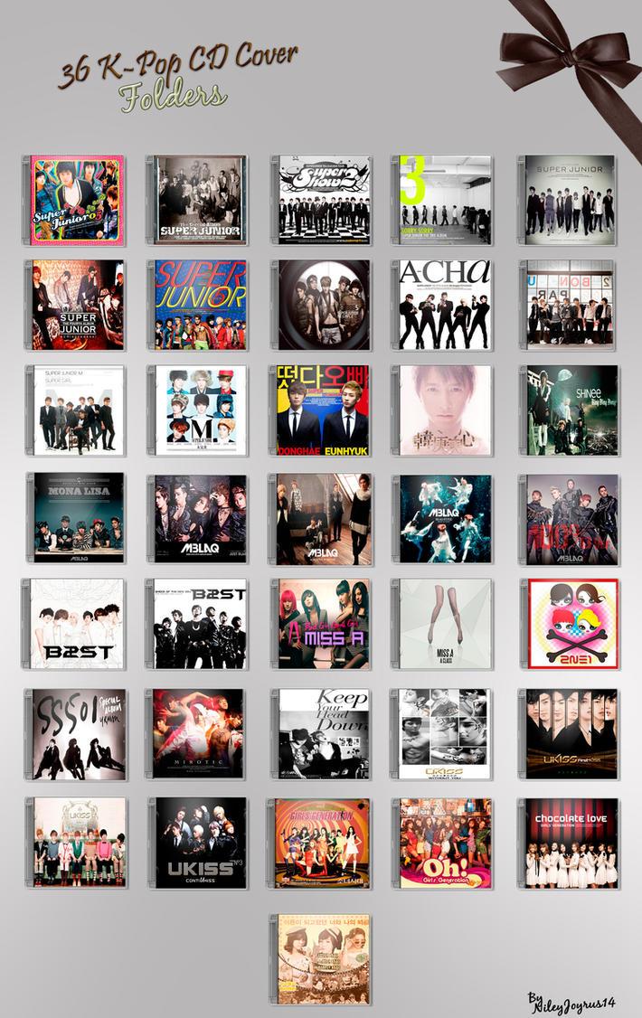 36 K-Pop CD Cover - Folders by NileyJoyrus14