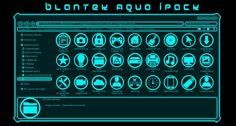 Adiccion Aqua theme for Win10