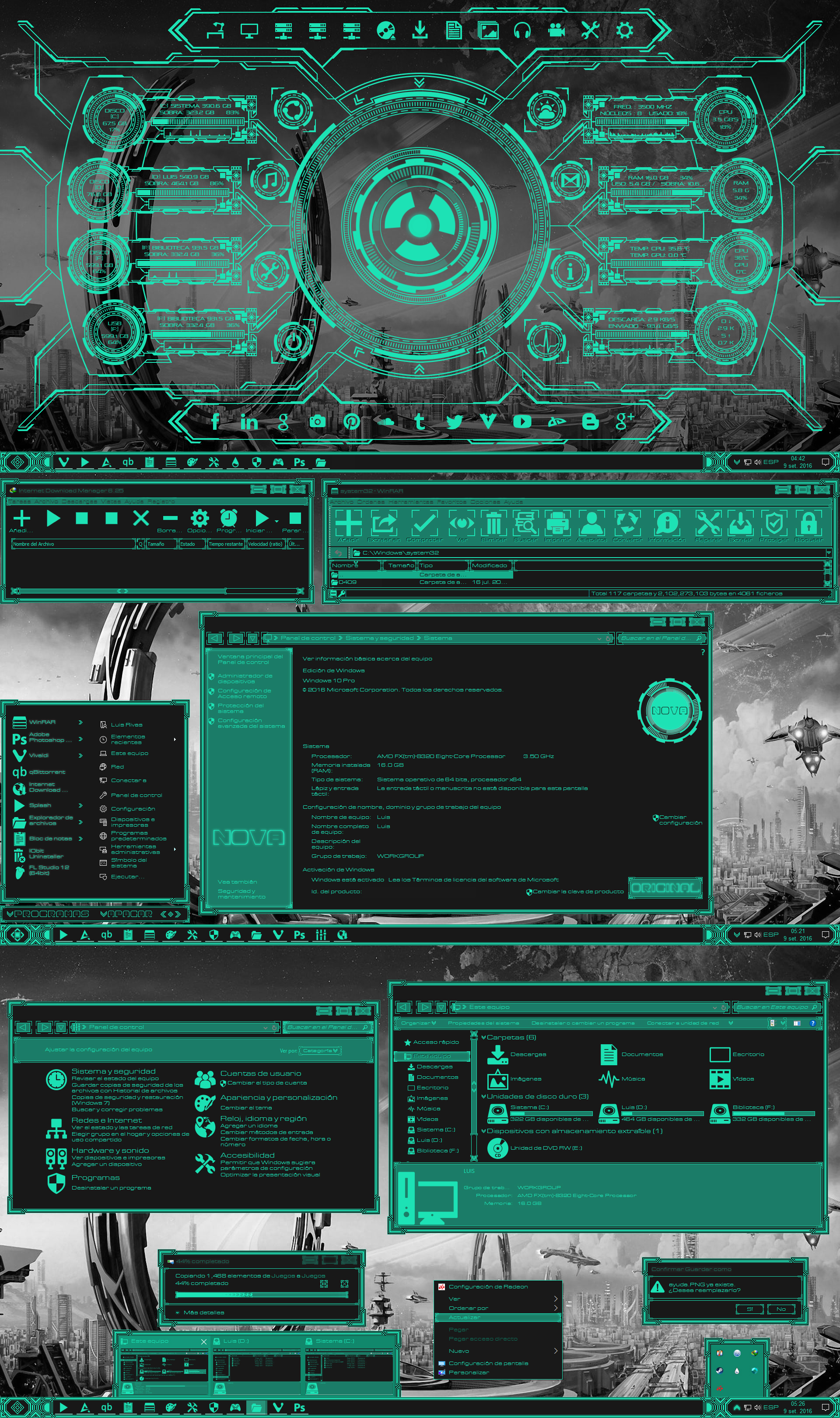 Nova Theme For Win10 Version 1607 (RS1) By Agelyk On