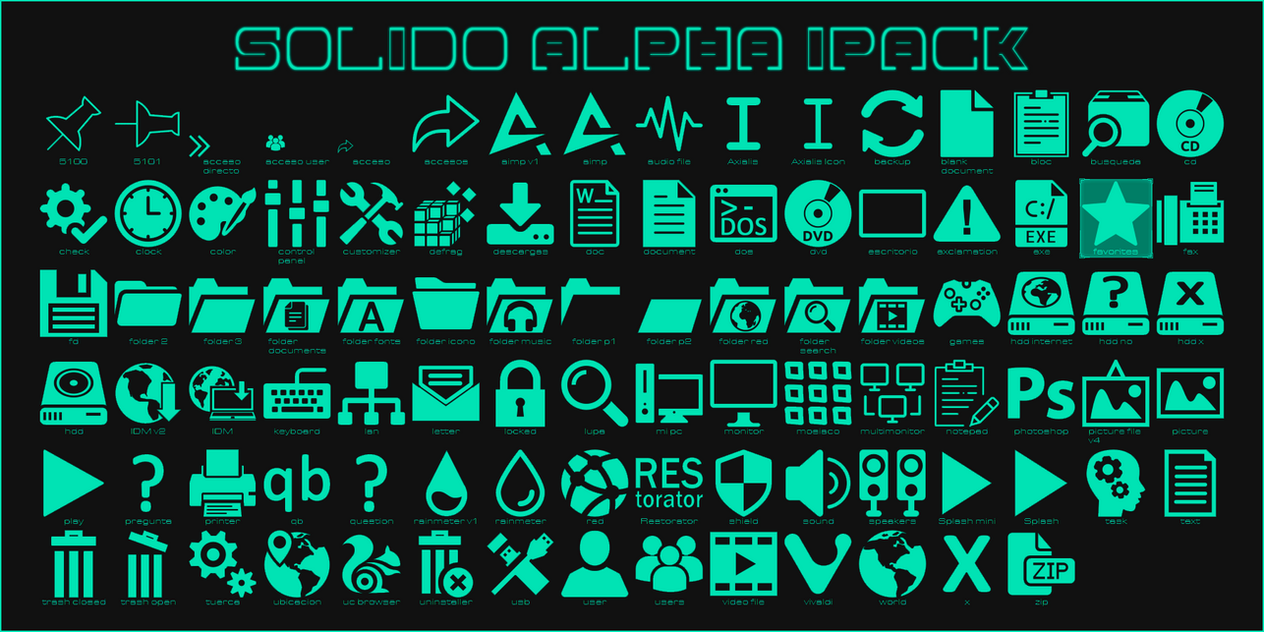 Solido Alpha IconPack for Win7/8.1/10