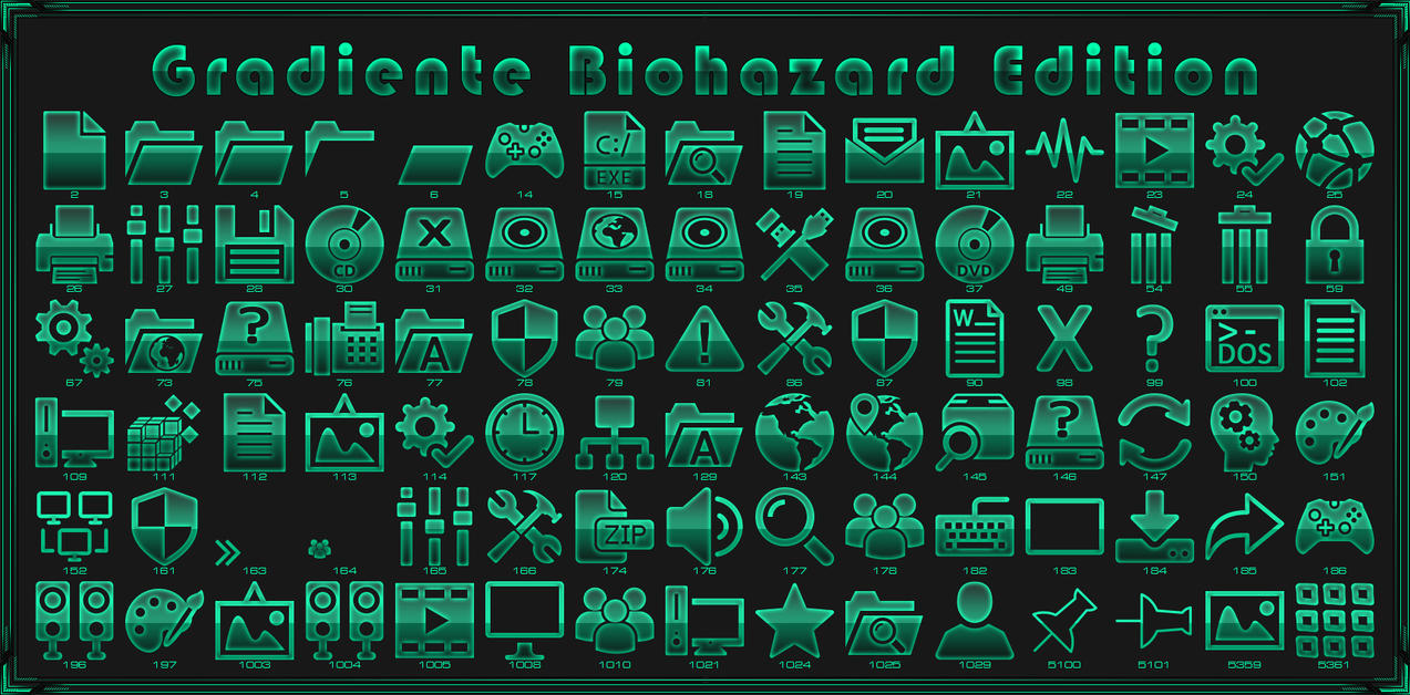 Gradiente Biohazard IconPack for Win7/8.1/10