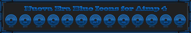 Nueva Era Blue Icons for Aimp 4