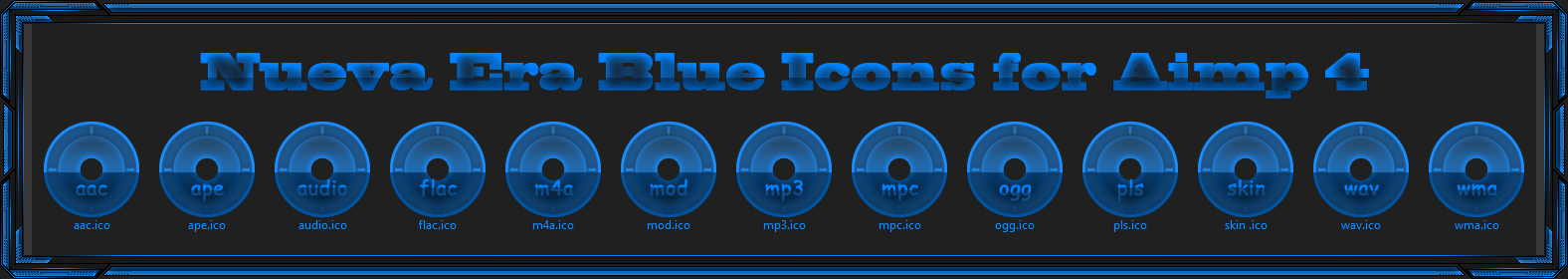 Nueva Era Blue Icons for Aimp 4 by Agelyk