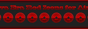 Nueva Era Red Icons by Agelyk for Aimp 4