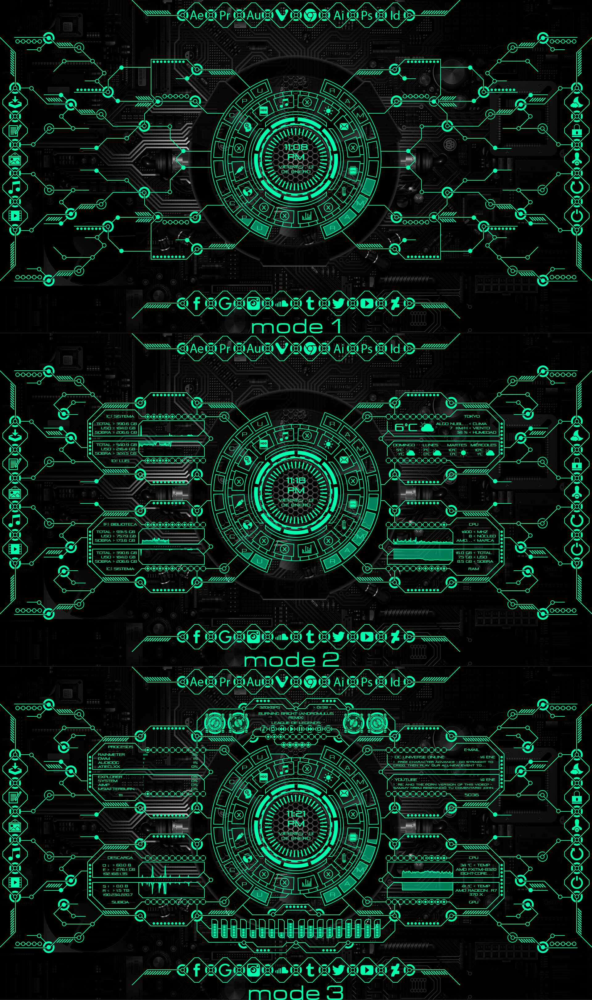 Arc Cryptonico for Rainmeter 4.0 by Agelyk on DeviantArt